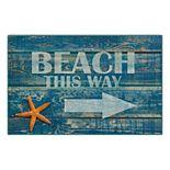 Brumlow Mills Beach this Way Rustic Printed Rug
