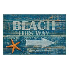 Brumlow Mills Beach this Way Rustic Printed Rug
