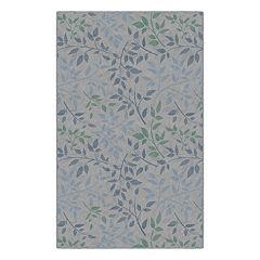 Brumlow Mills Tranquil Leaves Floral Printed Rug