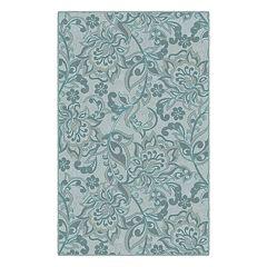 Brumlow Mills Traditional Jacobean Floral Printed Rug
