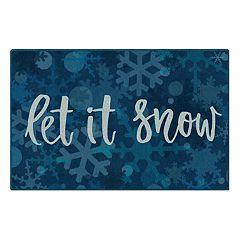 Brumlow Mills Let it Snow Snowflake Printed Rug