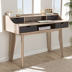 Baxton Studio Fella 4-Drawer Desk