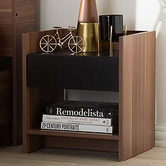Baxton Studio Vanda 1-Drawer Nightstand