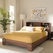 Baxton Studio Vanda 4-Shelf Queen Platform Bed