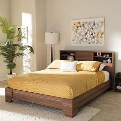 Baxton Studio Vanda 4-Shelf Queen Platform Bed