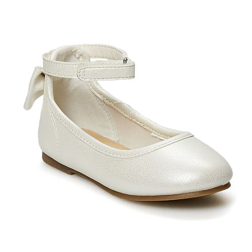 Carter's Toddler Girls' Ankle Strap Bow Flats