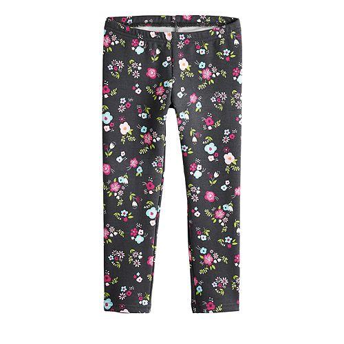 Toddler Girl Jumping Beans® Fleece Lined Printed Leggings