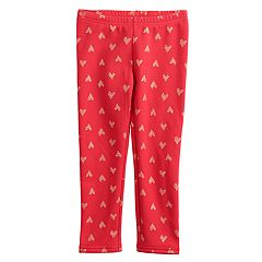 Toddler Girl Jumping Beans® Fleece Lined Printed Leggings