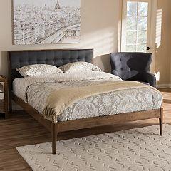 Baxton Studio Jupiter Tufted Platform Bed