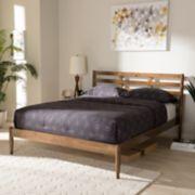 Baxton Studio Opal Slatted Platform Bed