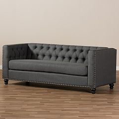 Baxton Studio Geneva Tufted Sofa