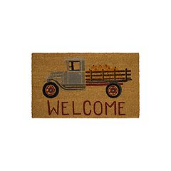 Mohawk® Home Pumpkin Truck ''Welcome'' Coir Doormat - 18'' x 30''