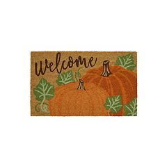 Mohawk® Home Pumpkin Pair ''Welcome'' Coir Doormat - 18'' x 30''