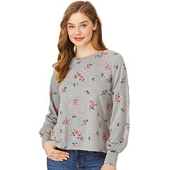Juniors' Wallflower Floral Puff Sleeve Top