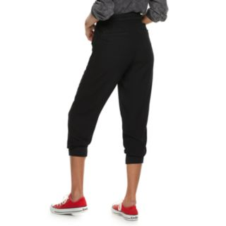 Juniors' Rewind High-Waisted Ruched Jogger Pants