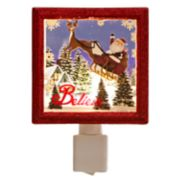 Santa & Reindeer Christmas Night Light