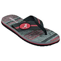 Men's Alabama Crimson Tide Striped Flip Flop Sandals