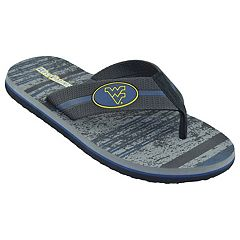 Men's West Virginia Mountaineers Striped Flip Flop Sandals