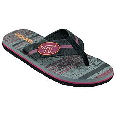 Men's Virginia Tech Hokies Striped Flip Flop Sandals