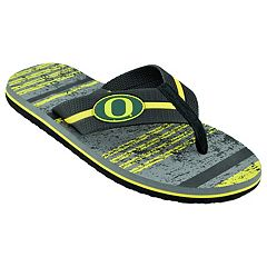 Men's Oregon Ducks Striped Flip Flop Sandals