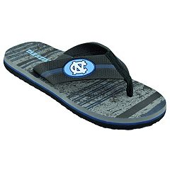 Men's North Carolina Tar Heels Striped Flip Flop Sandals