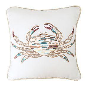 C&F Home Tan Crab Throw Pillow