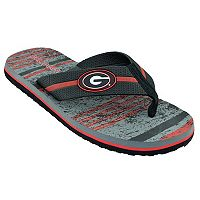 Men's Georgia Bulldogs Striped Flip Flop Sandals