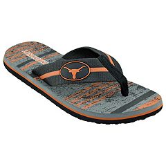 Men's Texas Longhorns Striped Flip Flop Sandals