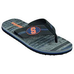 Men's Syracuse Orange Striped Flip Flop Sandals