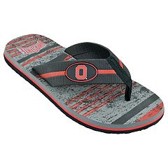 Men's Ohio State Buckeyes Striped Flip Flop Sandals