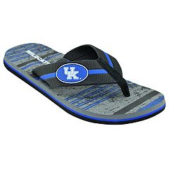 Men's Kentucky Wildcats Striped Flip Flop Sandals