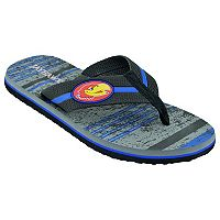 Men's Kansas Jayhawks Striped Flip Flop Sandals