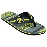 Men's Iowa Hawkeyes Striped Flip Flop Sandals
