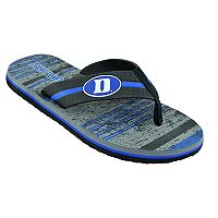 Men's Duke Blue Devils Striped Flip Flop Sandals