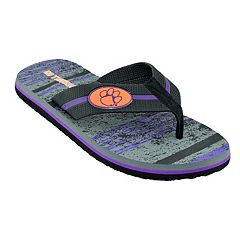 Men's Clemson Tigers Striped Flip Flop Sandals