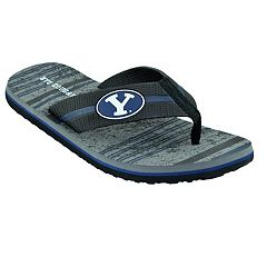 Men's BYU Cougars Striped Flip Flop Sandals