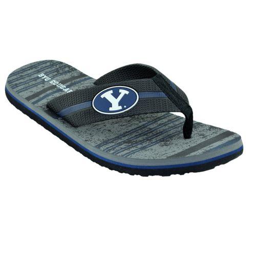 Men's BYU Cougars Striped Flip ... Flop Sandals