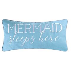 C&F Home Mermaid Sleeps Here Oblong Throw Pillow