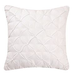 C&F Home Diamond Tuck White Throw Pillow