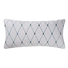 C&F Home Aqua Diamond Oblong Throw Pillow