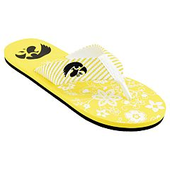 Women's Iowa Hawkeyes Floral Flip Flop Sandals