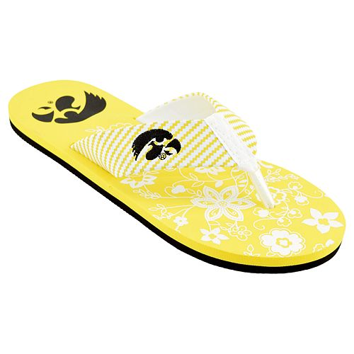 Women's Iowa Hawkeyes Floral ... Flip Flop Sandals cheap authentic outlet supply 2014 cheap price free shipping 2015 outlet pick a best Y6qXE