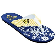 Women's West Virginia Mountaineers Floral Flip Flop Sandals