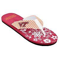 Women's Virginia Tech Hokies Floral Flip Flop Sandals