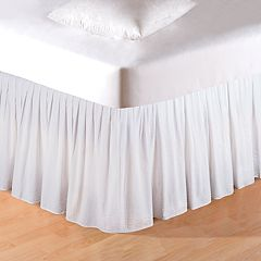 C&F Home White Seersucker Bedskirt