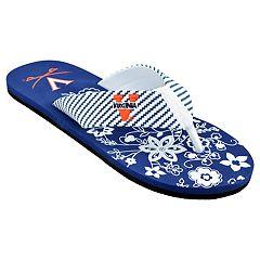 Women's Virginia Cavaliers Floral Flip Flop Sandals