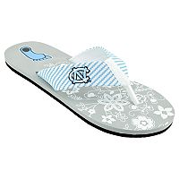 Women's North Carolina Tar Heels Floral Flip Flop Sandals