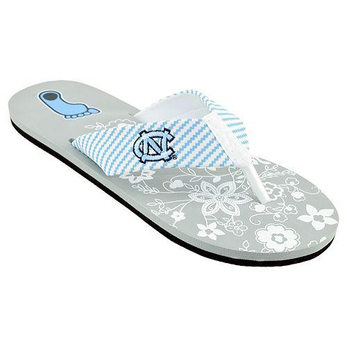 Women's North Carolina Tar ... Heels Floral Flip Flop Sandals amazon sale online footlocker pictures for sale buy cheap genuine ty4gbHvXSL