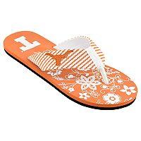 Women's Texas Longhorns Floral Flip Flop Sandals