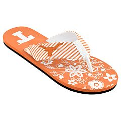 Women's Texas Longhorns Floral Flip Flop Sandals